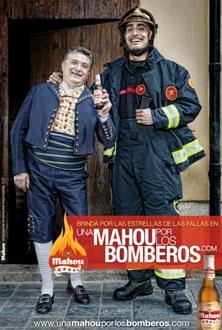 Homenaje a los bomberos en la Falla del Pilar valencia