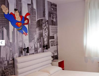 Habitación superman casual hotel valencia