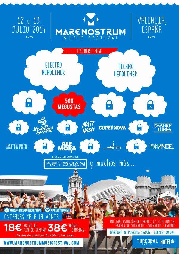 Cartel y precios del Mare Nostrum Music Festival de Valencia