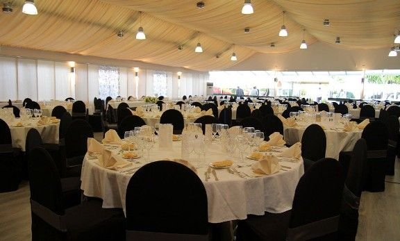 Salones de boda Mar Blau mesas