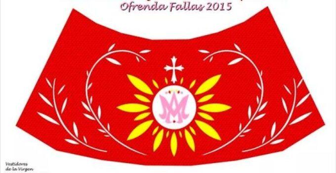 Diseño del manto para la Virgen de los Desamparados en la Ofrenda de Flores de las Fallas 2015