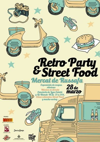 retro party street food