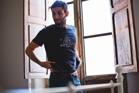 me-and-miles-hombre-camiseta