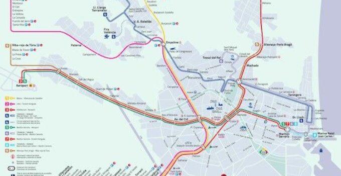 plano metro tranvia valencia lineas