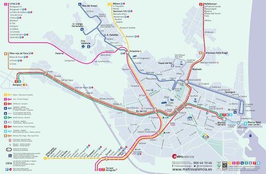 Mapa Metro Valencia 2015.Metro Valencia Information About The Metro In Valencia