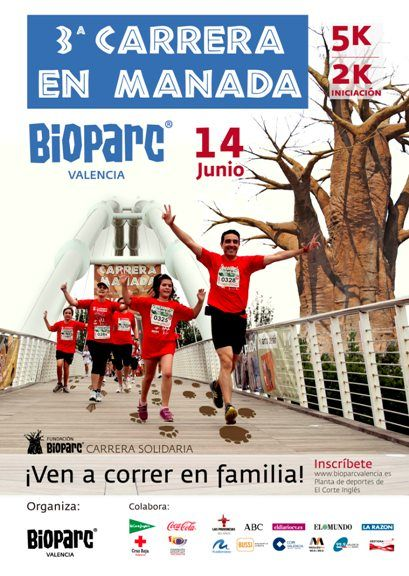 Cartel 3ª Carrera en Manada BIOPARC VALENCIA