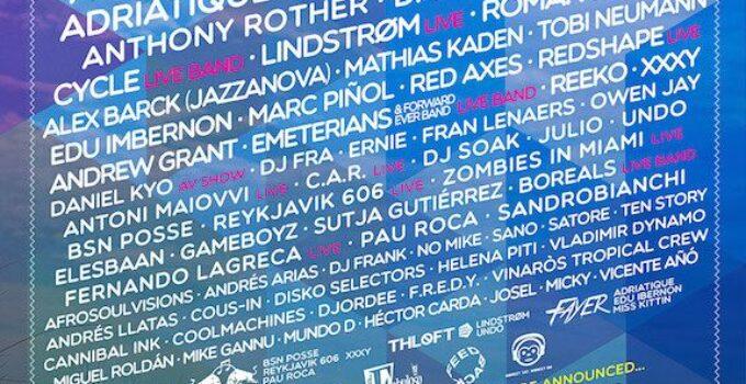 Cartel y precios del Festival Electrosplash en Vinaroz