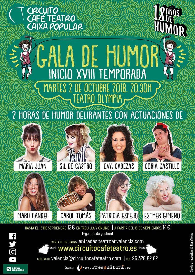 Gala de inicio de temporada Circuito Café Teatro Valencia valencia