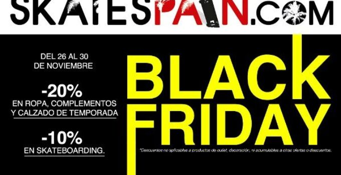No te pierdas el Black Friday en SkateSpain
