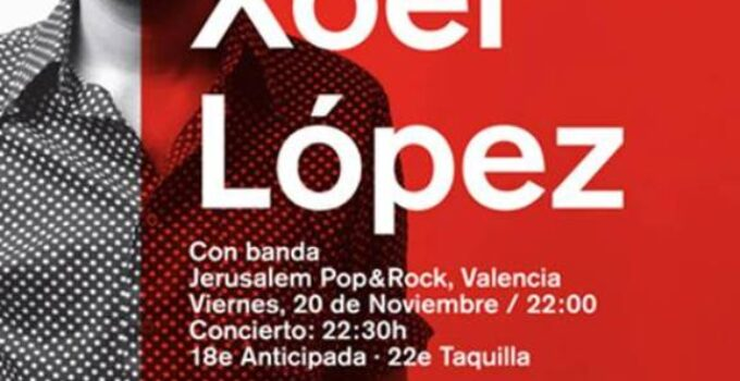 Xoel López en concierto en Valencia