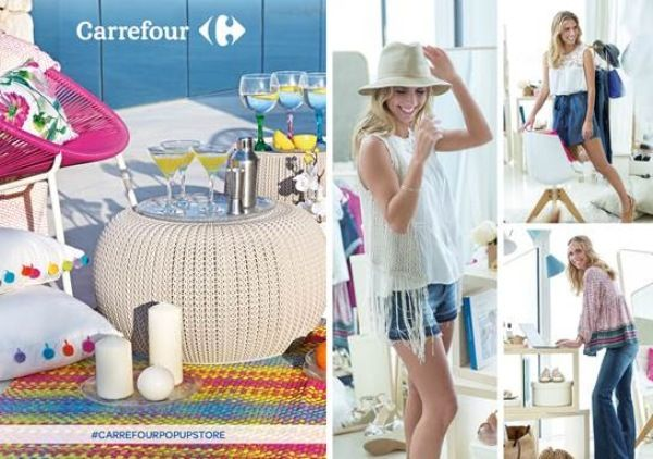 carrefour pop up store tapineria valencia