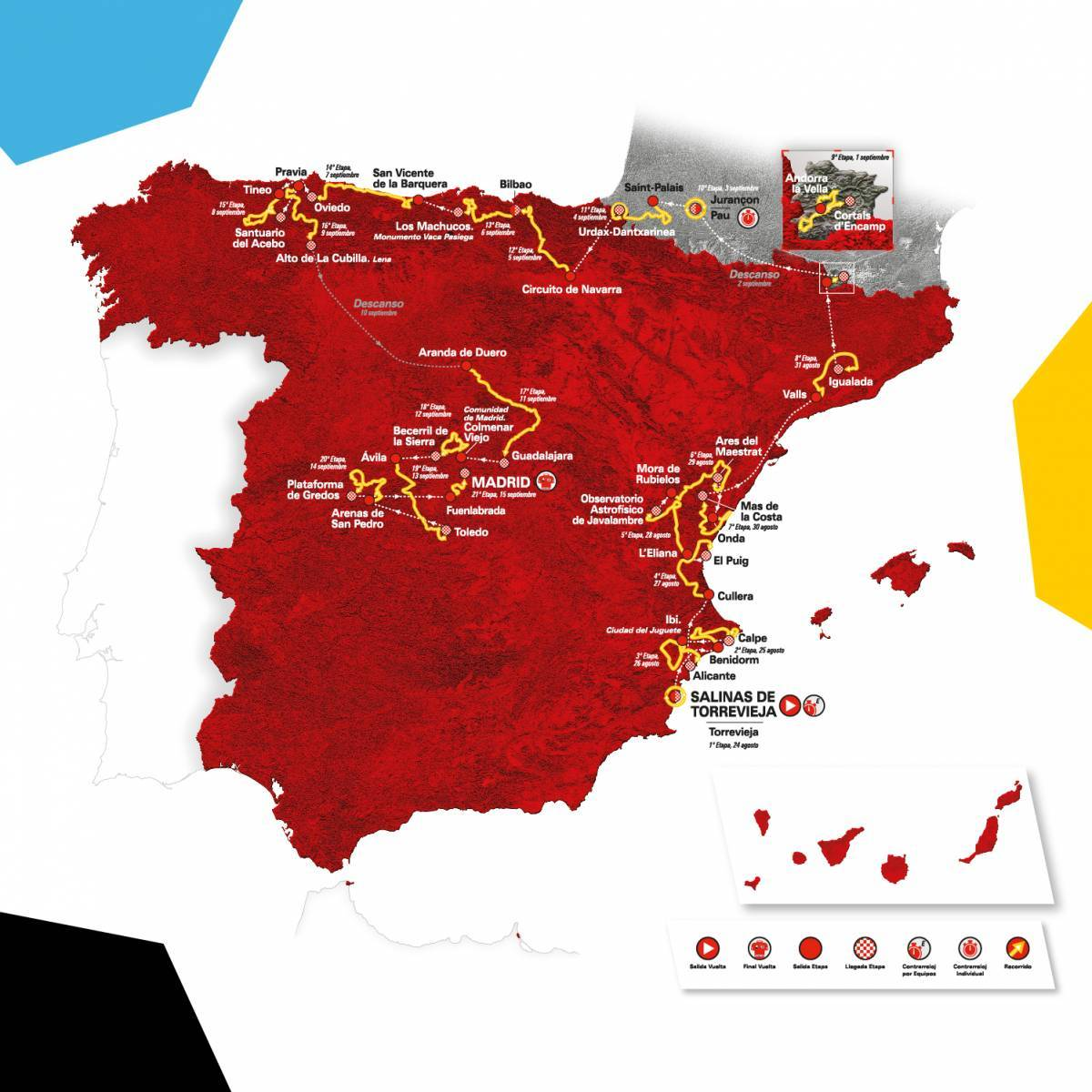 Mapa Vuelta Ciclista 2019