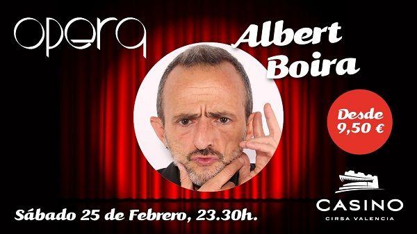 Albert Boira presenta su humor directo y mordaz en Casino Cirsa Valencia valencia