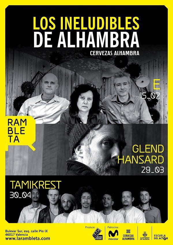 Conciertos: Los Ineludibles de Alhambra en Rambleta valencia