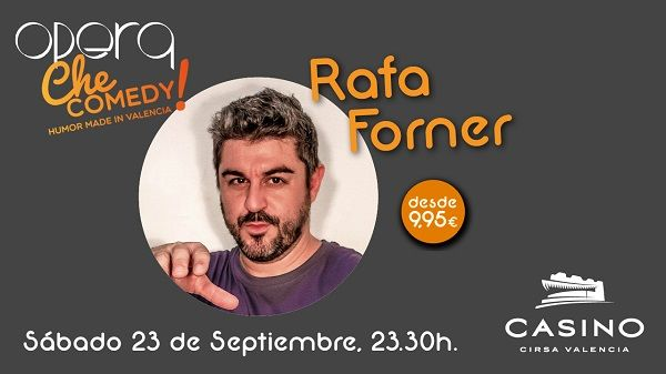Rafa Forner, humor genuinamente valenciano en  Casino Cirsa Valencia