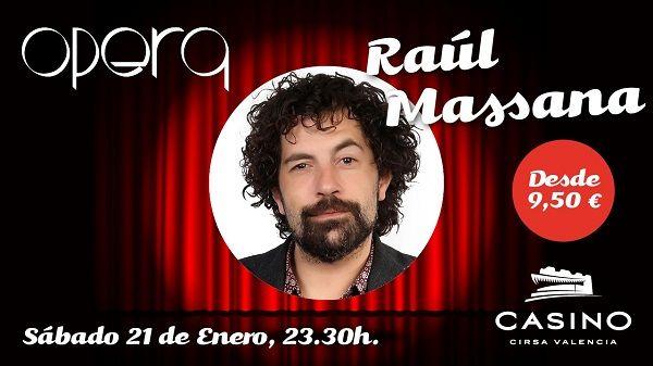 """Raúl """"El Massana"""" llega a Casino Cirsa Valencia con un espectáculo 'cinco estrellas'"""