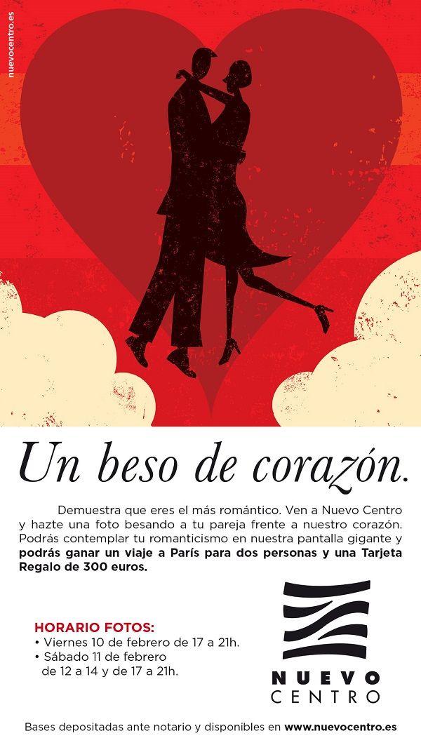 Muchos besos por San Valentín en Nuevo Centro valencia