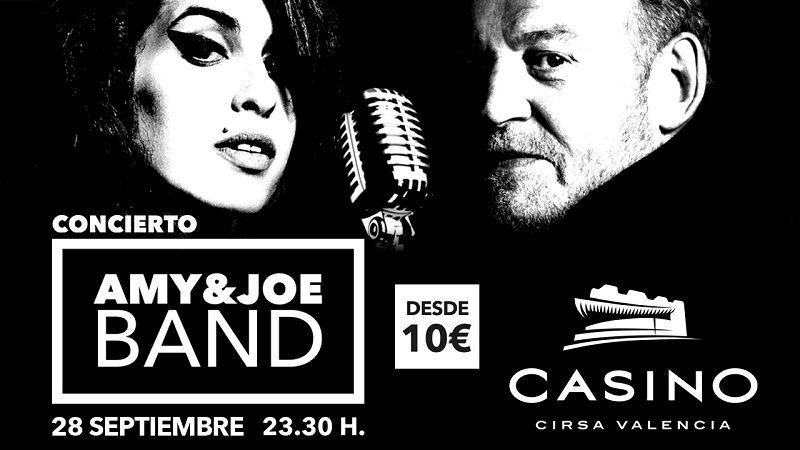 concierto Amy Joe  septiembre Casino Cirsa Valencia