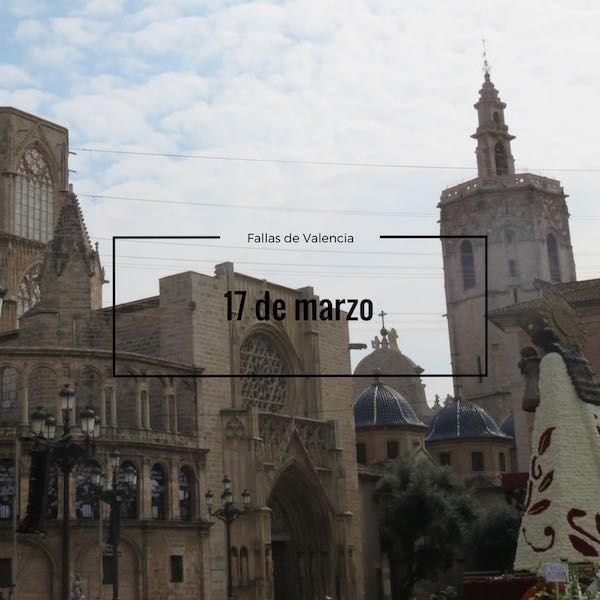 Programa Fallas 17 de marzo en Valencia
