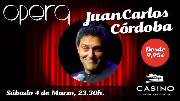 Juan Carlos Córdoba, humor satírico y gamberro en Casino Cirsa Valencia valencia