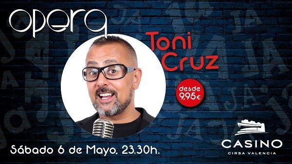 """Toni Cruz presenta en Casino Cirsa Valencia su """"humor equilibrado"""" valencia"""
