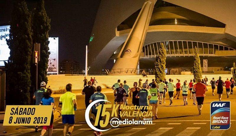 Disfruta corriendo de noche en la 15k Nocturna de Valencia valencia