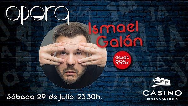 Ismael Galán regresa a Casino Cirsa Valencia con su espectáculo de humor ácido y fresco