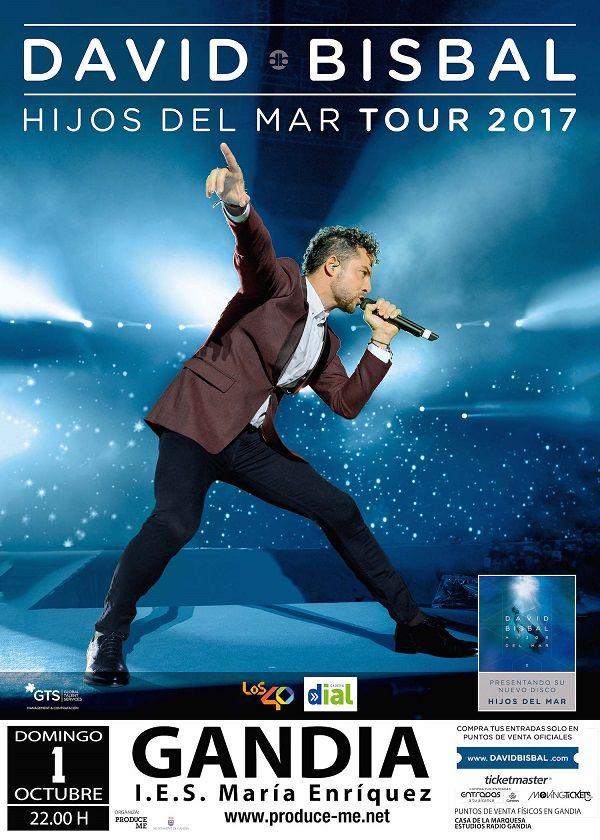 David Bisbal en concierto en Gandia FIRA I FESTES 2017 valencia