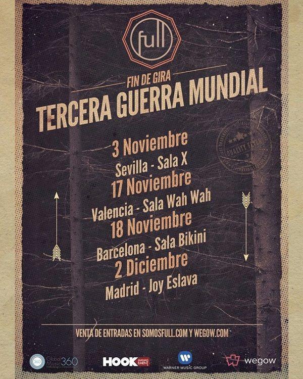 FULL cerrará la gira con 4 conciertos especiales valencia