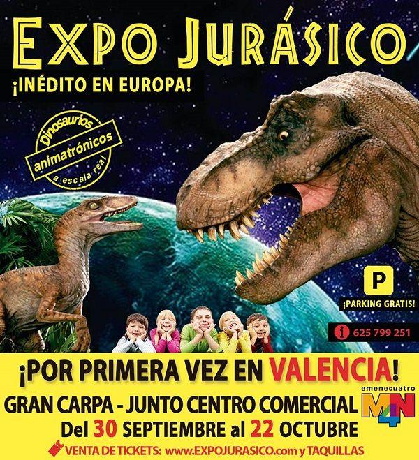 Expo Jurásico, viaja a la era de los dinosaurios valencia