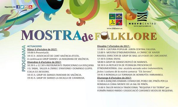 Mostra de Folklore en Nuevo Centro valencia