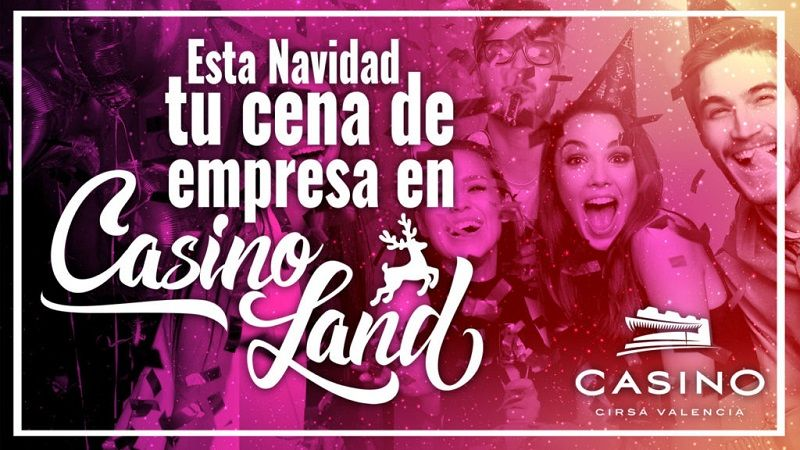 Cenas de Navidad para grupos y empresas, en Casinoland valencia