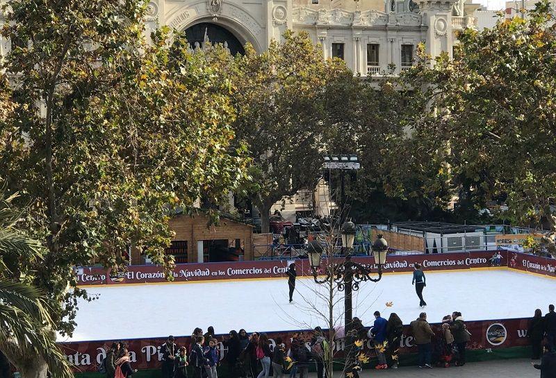 pista hielo ayuntamiento valencia 2