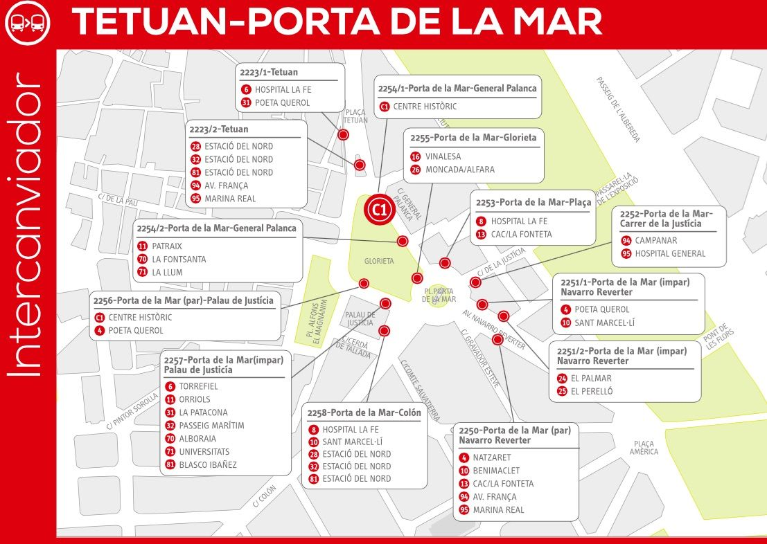 Intercambiador Puerta Mar EMT Valencia