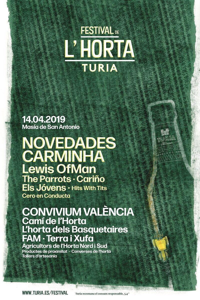 Cerveza Turia presenta la nueva edición del 'Festival de l'Horta Turia' valencia