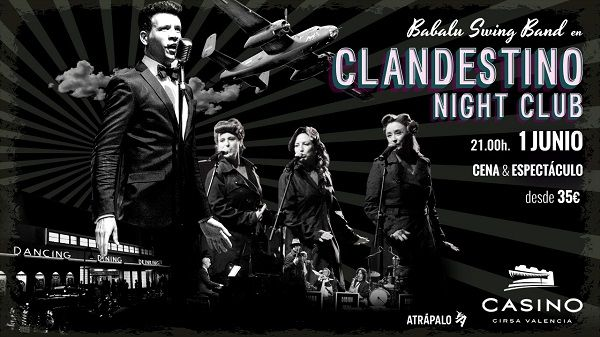 Clandestino Night Club en Casino Cirsa Valencia