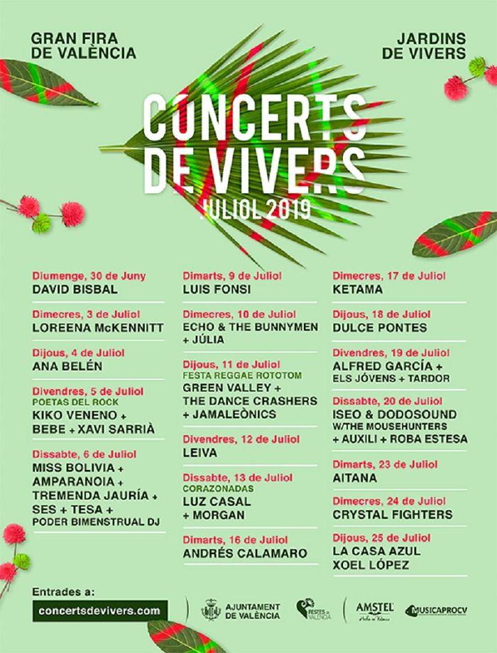 cartel concierto viveros julio 19