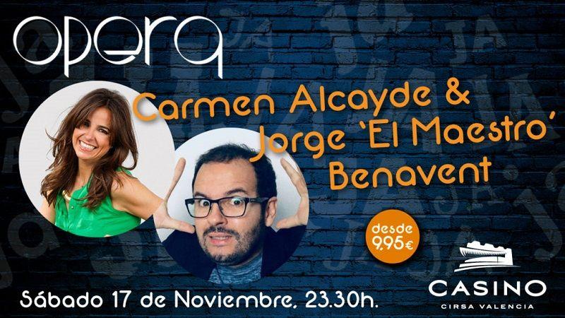 Carmen Alcayde y Maestro Benavent  noviembre Casino Cirsa Valencia