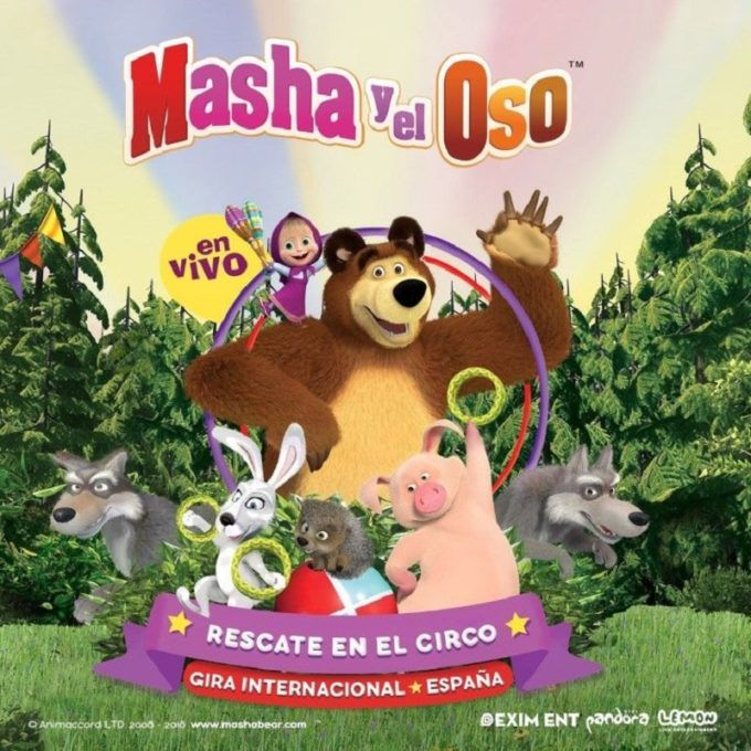 masha y el oso rescate en el circo