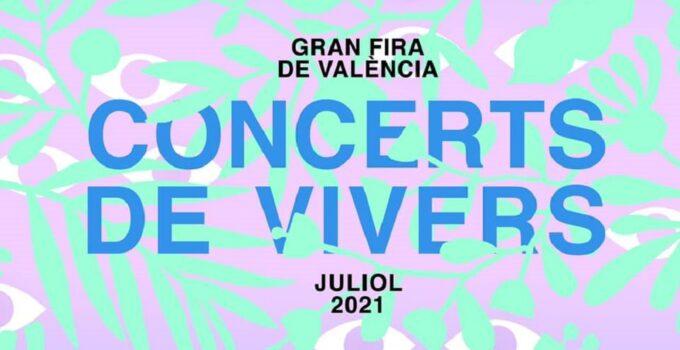 Cartel Conciertos Feria de Julio 2021 en los Jardines de Viveros
