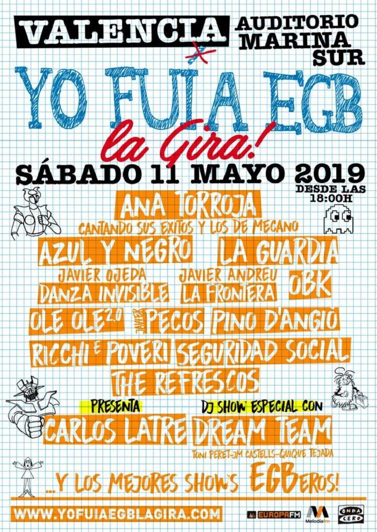 YO FUI A EGB, la gira llega a Valencia valencia