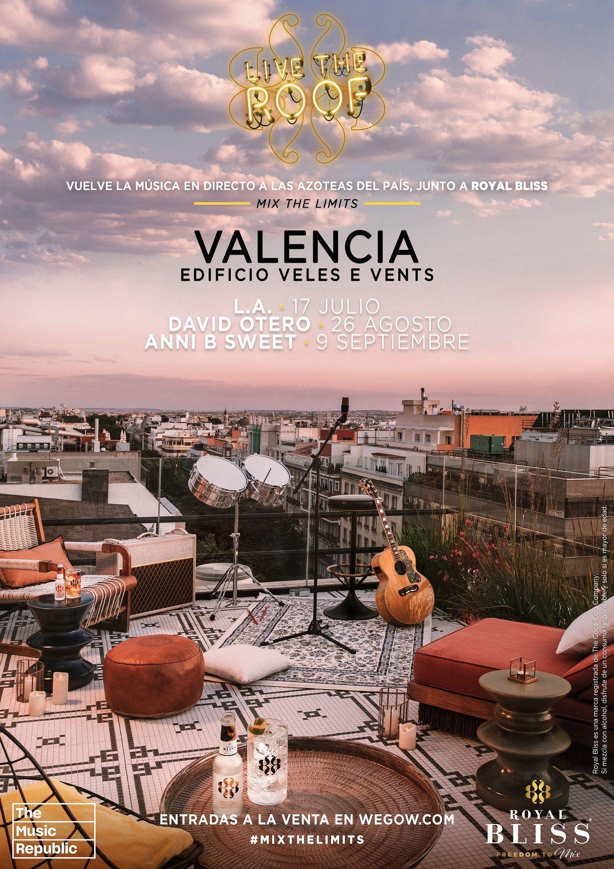 Conciertos en la azotea al atardecer, Live The Roof valencia