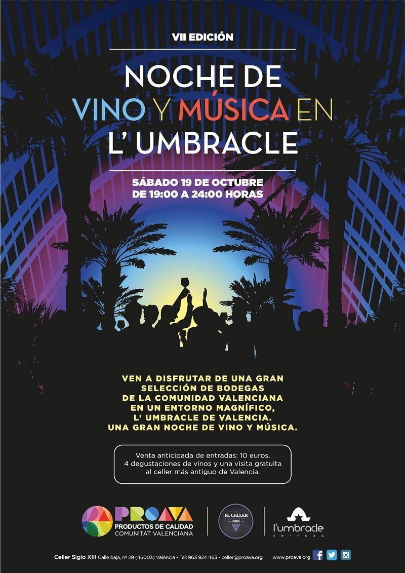 VIMU: Noche de vino y música en L'Umbracle valencia
