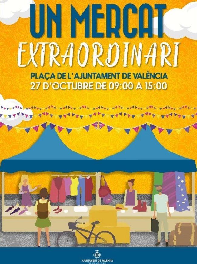 Un mercado extraordinario en la Plaza del Ayuntamiento valencia
