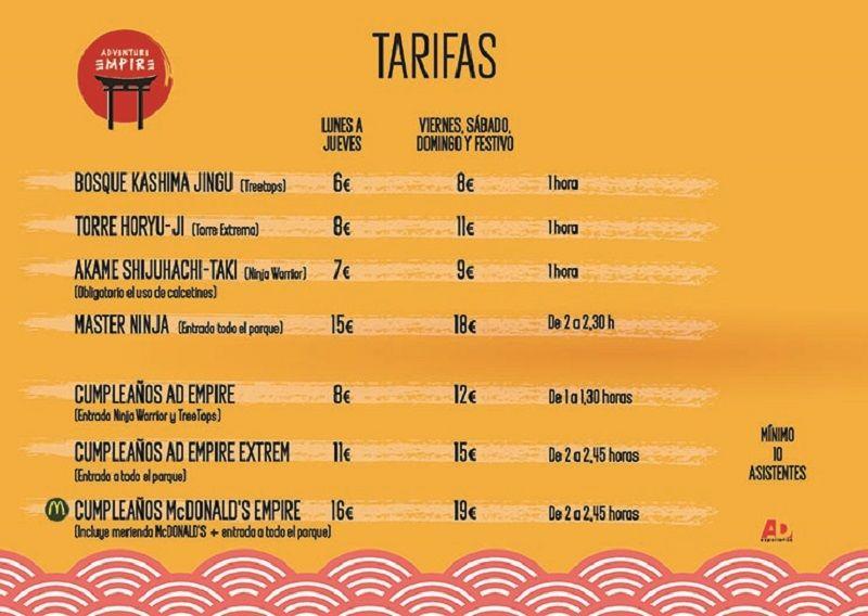 TARIFAS ParqueMULTIAVENTURA19 LOWBLOG