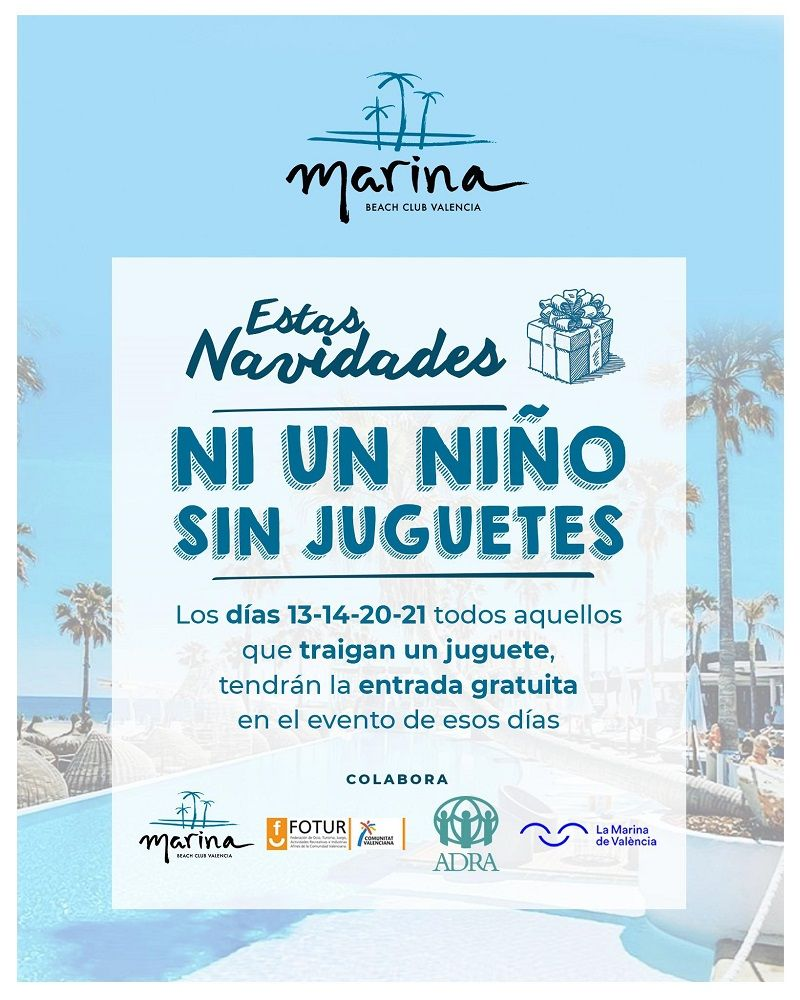 campaña ni un niño sin juguete de Marina Beach Club Valencia