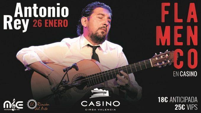 Concierto Antonio Rey 26 enero Casino Cirsa Valencia