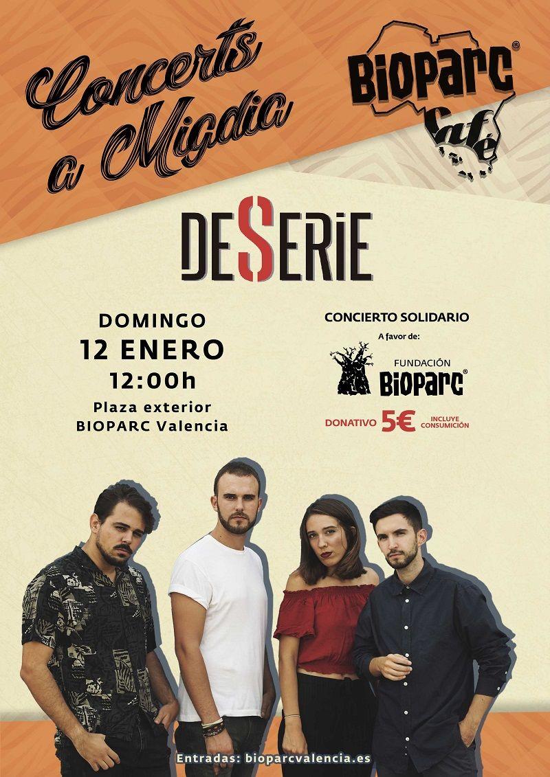 Concierto solidario DESERIE BIOPARC Valencia min