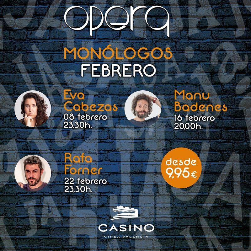 monólogos febrero Casino Cirsa Valencia