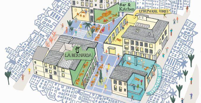 Mercado de Tapineria ilustracion Gisela Talita
